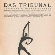 Das Tribunal. Hessische Radikale Blätter, 1. Jahrg., 1. Heft, Januar 1919 / Ernst Moritz Engert, Judith, Holzschnitt, 1919