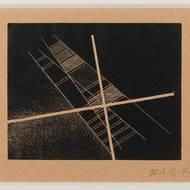 László Moholy-Nagy, Sich schneidende Diagonalen auf schwarzem Grund, 1925