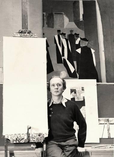 Eberhard Schlotter in seinem Atelier, Foto: Pit Ludwig