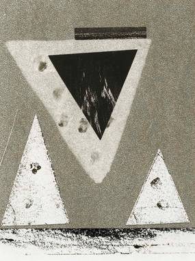 Robert Preyer, Verschmelzung, Collage, 1977.