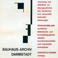 Plakat des Bauhaus-Archiv Darmstadt, um 1965