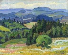 August Soeder, Weißtannenhöhe im Schwarzwald, Öl/Leinwand, 1919