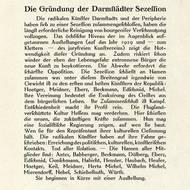 Gründungsmanifest der Darmstädter Sezession, Ausschnitt aus: Das Tribunal. Hessische Radikale Blätter, 1. Jahrg., 6. Heft, Juni 1919