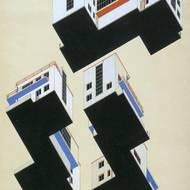 Alfred Arndt, Entwurf für die farbige Gestaltung der Meisterhäuser in Dessau, Tusche und Tempera, 1926